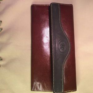 Handbags - NICE ELEGANT LEATHER WALLET REDISH /BROWN IMPORTED